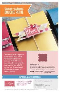 La Perforatrice Étiquette bouclée Petite est disponible