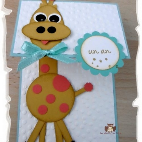 Une girafe…