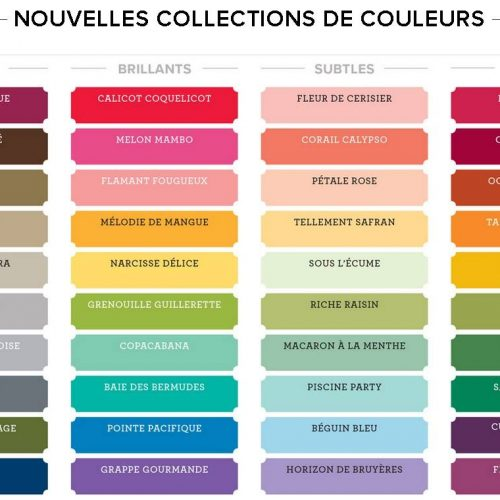 Refonte des couleurs Stampin'Up!
