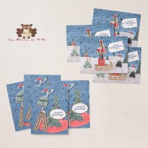 """Kit de cartes """"Fantaisie de Noël"""""""
