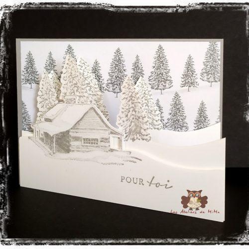 Un chalet sous la neige, une maison à la campagne…
